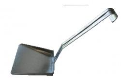 Совок оцинкованный с вертикальной ручкой