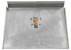 Лопата дюралевая 1 борт.500х310